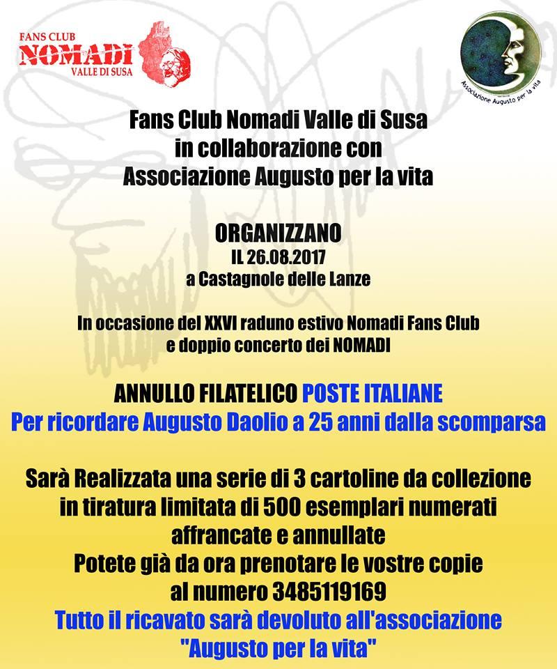 Calendario Concerti Nomadi.Augusto Daolio